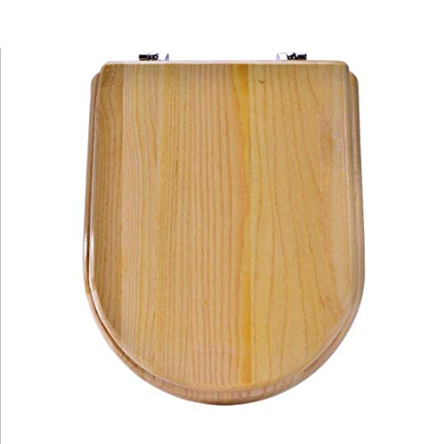 - YPSMWXG Wooden Toilet Seat Round, with Stainless Steel Strong Hinges Elongated Toilet Seat Various Specifications,Ushape