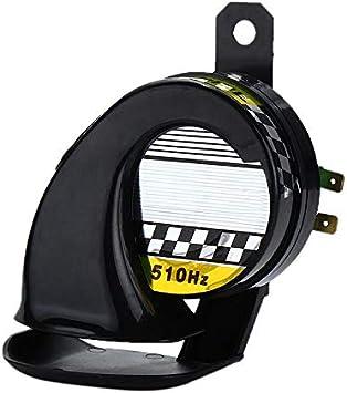 Car Truck Boat 510Hz Electric Loud Snail Air Horn Siren Waterproof 12V Black NEW