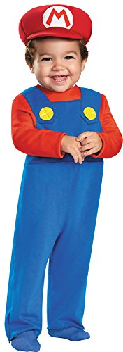 Disguise Baby Boy's Super Mario Theme Outfit Infant Halloween Costume, 12-18M -