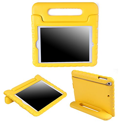 HDE Kids Case for iPad Mini 2 3 -Shock Proof Rugged Heavy Duty Impact Resistant Protective Cover Handle Stand for Apple iPad Mini 1 2 3 Retina (Yellow)