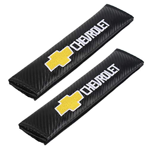 Auto Seat Belt Cover Shoulder Pad Cushion (2 Pcs) fits All Type of car and car Seats Seat Belt Pads (Chevrolet)
