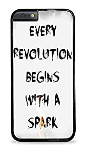Hunger Games -Every Revolution Begins With A Spark Apple iPhone 6 (4.7 inch) i6 Hard Case - Black