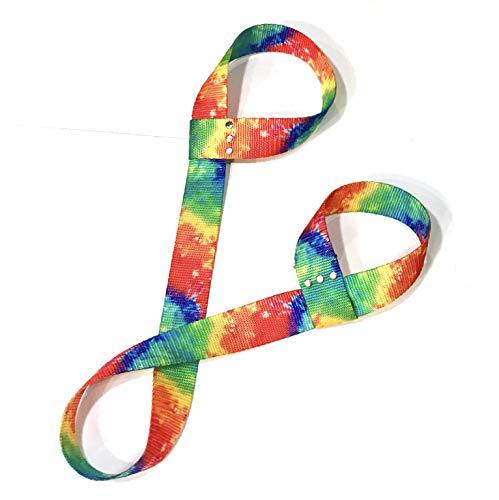 Rainbow Print Adjustable Roller Skate Leash/Over Shoulder Sling