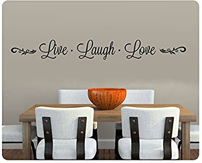 """46"""" Live Laugh Love Embellishment Wall Decal Sticker Art Mural Home Décor Quote Lettering Christian Thanksgiving Kitchen Table"""
