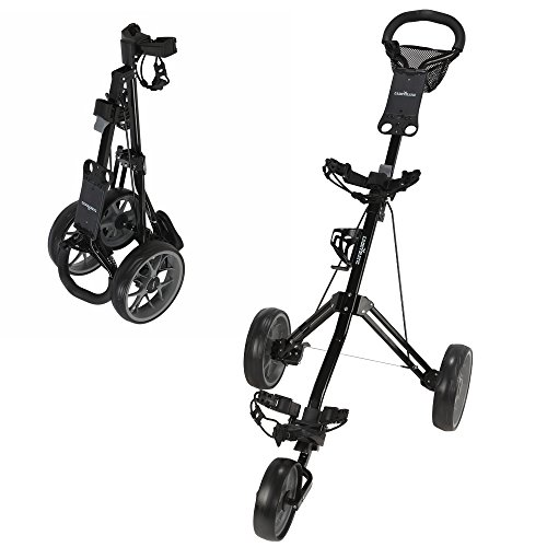 (Caddymatic Golf Pro Lite 3 Wheel Golf Cart Black/Gray )