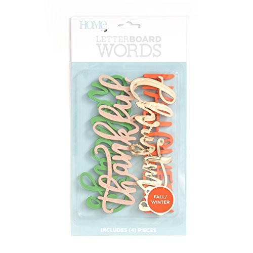 Fall Die Cut - American Crafts 4 Piece Word Pack Winter/Fall Die Cuts with a View Letterboards