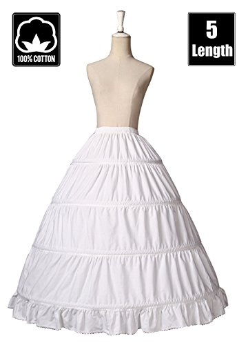 BEAUTELICATE Girls Petticoat 100% Cotton Crinoline Underskirt for Kids Flower Dress Slips 18