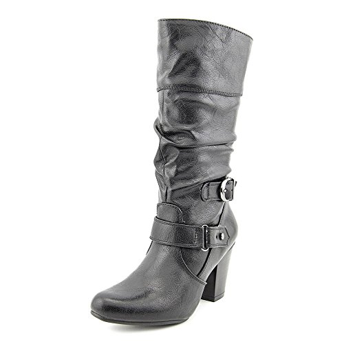 White Mountain Women's Ginger Boot,Black Smooth,11 B (M) US