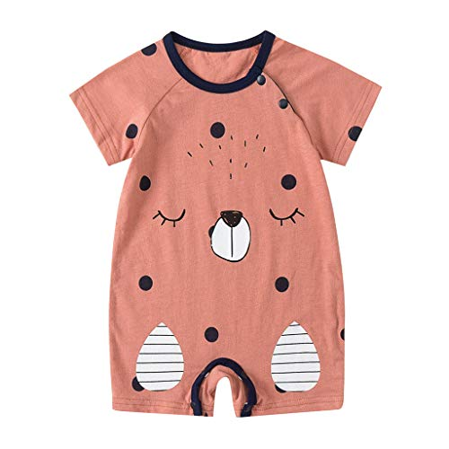 4ee16e9c4 NUWFOR Newborn Baby Boy Girls Cartoon Infant Rompers Jumpsuit Outfits  Clothes(Yellow,9-