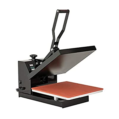 "SUNCOO T-Shirt Press Machine,15x15"" Heat Transfer 1200W Industrial Quality Power Press Machine, Heat Presses for T-Shirt,Mouse Pad,Phone Case,Cotton,Bags,Tablecloth"