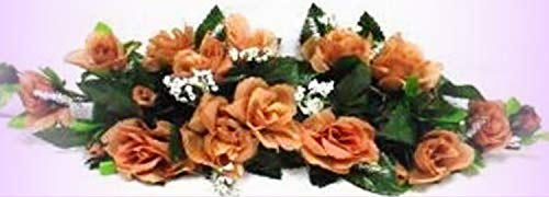 Inna-Wholesale Art Crafts New Rose Swag Coffee Brown Table Centerpiece Silk Decorating Flowers Arch Gazebo Decor - Perfect for Any Wedding, Special Occasion or Home Office D?cor