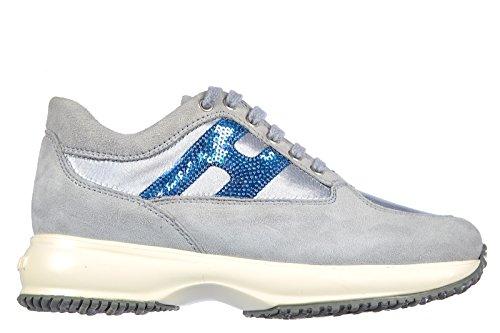 Hogan Zapatos Zapatillas de Deporte Niña EN Ante Nuevo Interactive Paillettes Vi