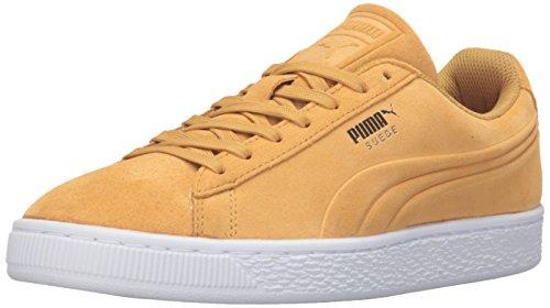 Puma Heren Suede Klassieke Ingeslagen Q3 Fashion Sneaker Helder Goud
