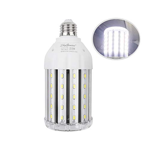 25W Super Bright LED Corn Light Bulb for Garage, E26 High Output 2500Lm 6500K Daylight LED Corn Bulb 200 Watt Equivalent, for Backyard Basement Barn Workshop Outdoor Large Area(New Version)