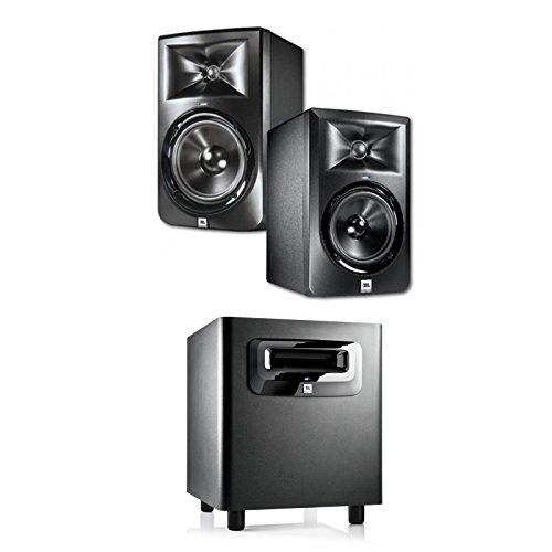 JBL LSR308 8-inch Two-Way Powered Studio Monitors (PAIR) w/ 1 JBL (Jbl Spot)