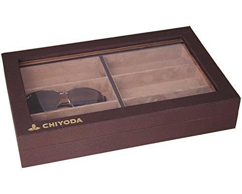 CHIYODA 6 Grid Eyeglasses Box Sunglasses Storage Case Jewel Display Organizer