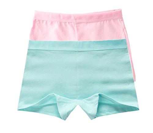 Adiasen Girls' Little 2-Packs Comfortable Cotton Underwear Boxer Hipster Knickers Briefs Safety Pants (9-12 year) (Boxer Girl Halloween)