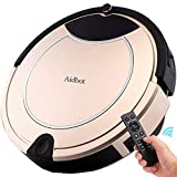 Aidbot Luxury Golden Smart Robotic Vacuum Cleaner Strong Suction Pet Hair Low-Pile Carpet Floor Cleaning Vacuum Robot Self-Charging with Virtual Blocker Low Noise Dual Central Sweeper Mop Robot For Sale