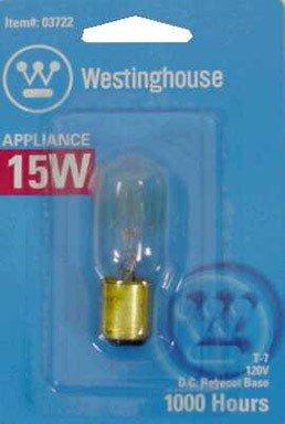 Westinghouse Appliance Light Bulb 15 W T7 Bayonet Base 2-1/4 In. Clear Carded (Clear Tubular Carded Light Bulb)