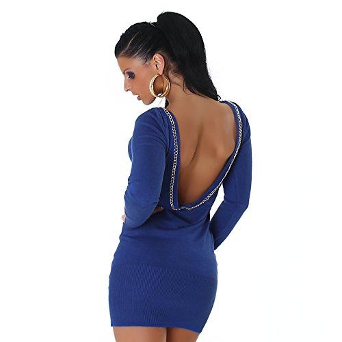 Jersey de jersey de mangas largas de Jela London para mujer Jersey de manga larga Jersey de escote en canalé Vestido de jersey de manga larga 36, 38, 40, 42 ...