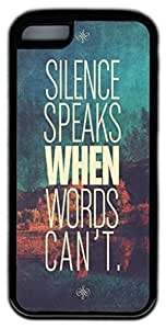 Zenzzle Stylish Rubber Case for iPhone 5C (TPU Black) - Silence Speaks When Words Can't
