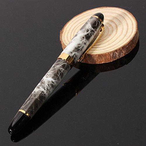 - NAVA Jinhao X450 Brown Marble Chunky Medium Flex Nib Fountain Pen