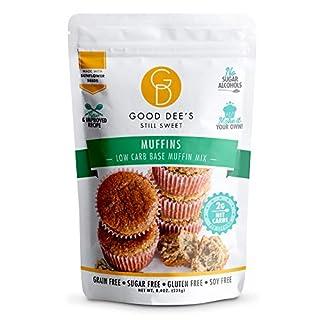 Good Dee's Muffin Mix – Low carb, Keto friendly, Sugar Free, Gluten free, Grain Free, No Nuts, Sugar Alcohol Free, Atkins friendly, Diabetic friendly, WW Friendly, 2g net carbs , 12 servings