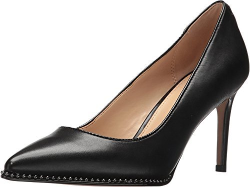 Coach Womens Vonna Leather Pointed Toe Classic Pumps, Black/Black, Size 9.5