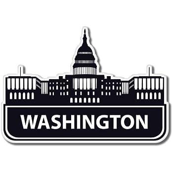 Washington DC Travel Visit Suitcase Vinyl Sticker SELECT SIZE