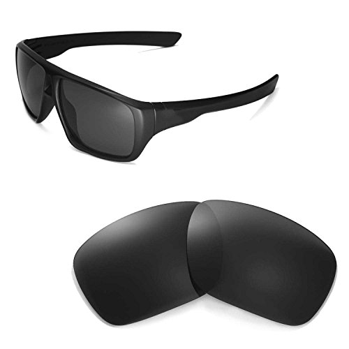 Walleva Replacement Lenses for Oakley Dispatch Sunglasses - Multiple Options Available (Black - Polarized)