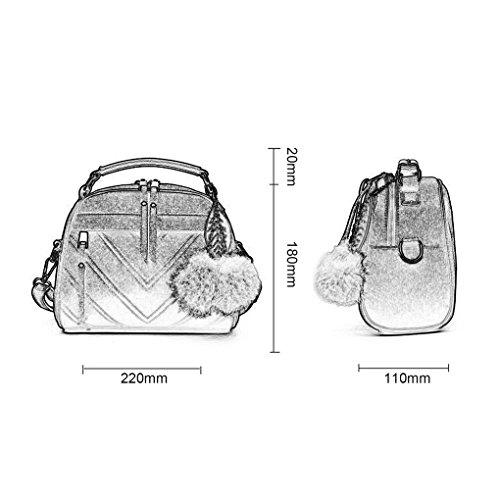 Mini sac sac bandoulière main Femme Haricot Arichtop à à à peluche Sac en cuir pâte FEMME balle bandoulière Tote PU Messenger fille Colorée en Femmes wYqCfpq