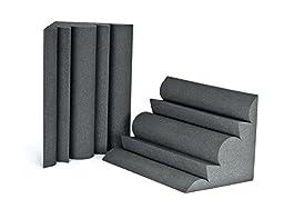Silverback Acoustic Sound Foam Bass Trap For Corner, Recording Studio Grade, 2 Pack