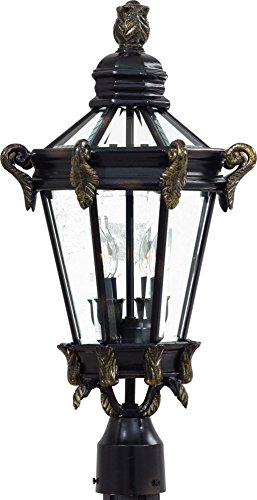 Minka Lavery Outdoor Post Lights 8935-95, Stratford Hall Aluminum Exterior Lighting Fixture, 120 Watts, Heritage ()
