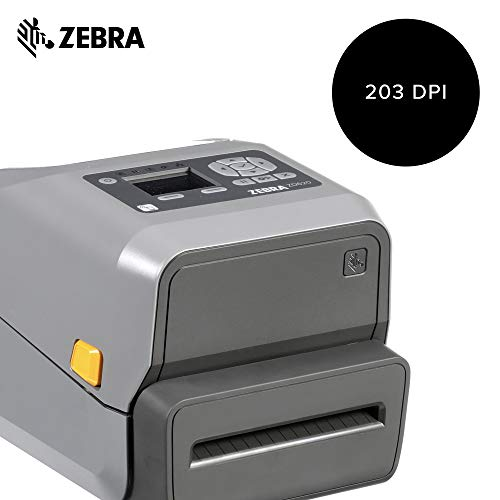 Zebra - ZD620t Thermal Transfer Desktop Printer with LCD Screen - Print  Width 4 in - 203 dpi - Interface: WiFi, Bluetooth, Ethernet, Serial, USB -
