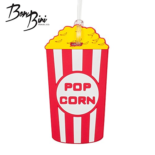 BonBini Luggage Tag Popcorn Print (Popcorn Print)