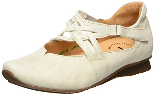 Cassé shell 28 Think Femme Ballerines Chilli Blanc wvnq14a