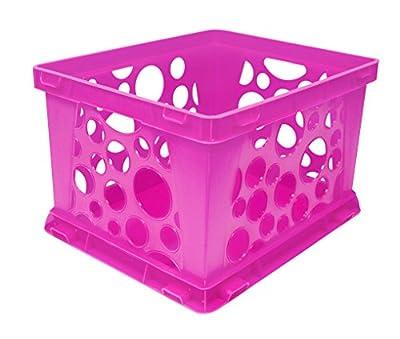 Storex Mini Crate, 9 x 7.75 x 6 Inches, Assorted Colors