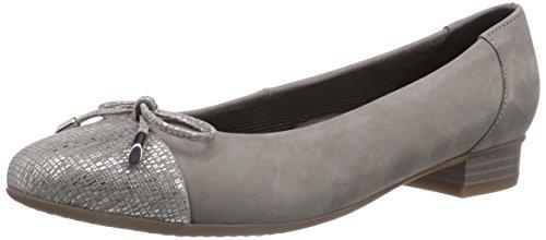 ara Bari - Bailarinas de cuero para mujer gris - Grau (taupe,grigio 25)