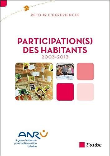 Livres Participation(s) des habitants, 2003-2013 pdf epub