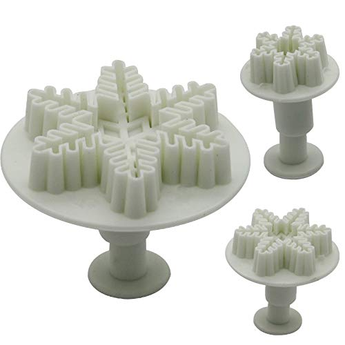 Lysansan 1set 3pcs Hot Sale Snowflake Decorating Cake Cookies