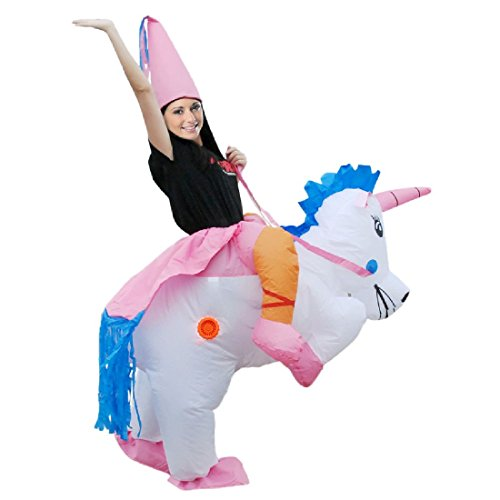 Inflatable Unicorn Dinosaur Costume Inflatable T Rex Party Princess Dress - Princess Riding A Unicorn Costume