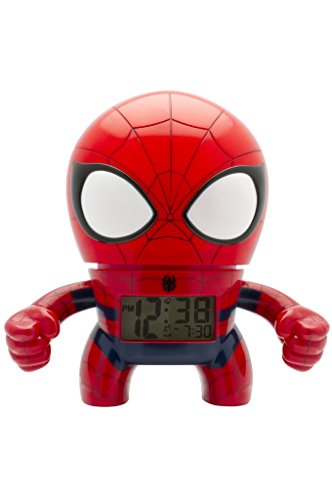 BulbBotz  2020039Spider Man 7.5 Inches Digital Quartz Light Up Alarm Clock