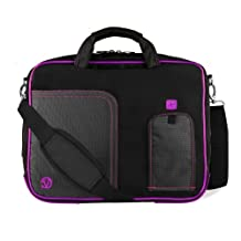 Purple Pindar Edition Messenger Bag Protective Netbook Carrying Case for Asus Eee PC 1011PX 10.1-inch Netbook PC