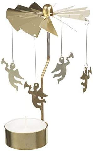 Zebery Bougeoir en m/étal rotatif pour bougie chauffe-plat Motif arbre de No/ël