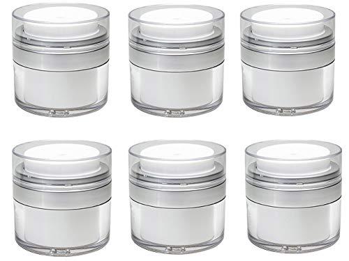 Airless Pump Bottle | Refillable Cosmetic Air Pump Jars | TSA Travel Size (15ml)