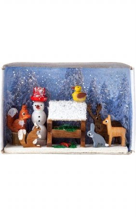 DREG Alexander Taron Dregeno Animals Feeding Matchbox - 1.5''H x 2.25''W x .75''D