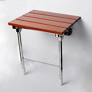 SUNDELY® Solid Wood Wall Mounted Folding Shower Seat: Amazon.co.uk ...