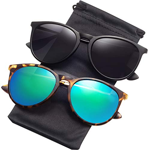 Sunglasses for Women Men Polarized uv Protection Wearpro Fashion Vintage Round Classic Retro Aviator Mirrored Sun glasses (Aviator Classic)