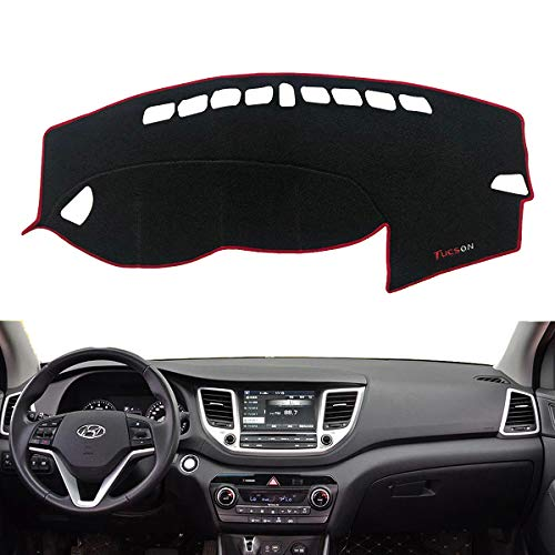 - Autoxrun Custom Fit Dashboard Cover Center Console Cover Sun Cover Pad Fit 2015 2016 2017 2018 Hyundai Tucson(ix35)