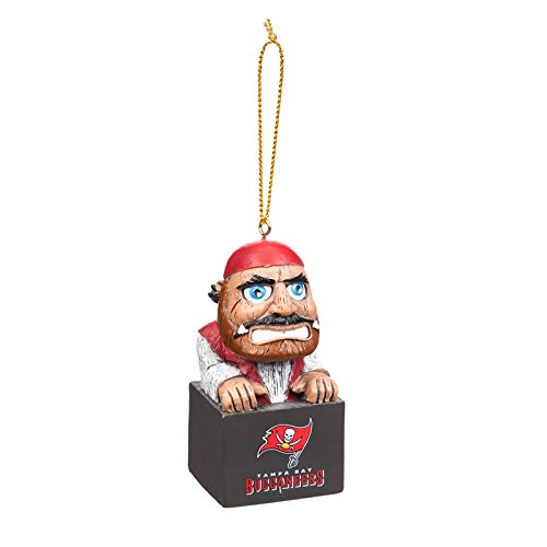 Team Sports America Tampa Bay Buccaneers NFL Tiki Totem Mascot Ornament, Set of ()